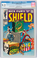 Silver Age (1956-1969):Superhero, Nick Fury, Agent of S.H.I.E.L.D. #1 (Marvel, 1968) CGC NM- 9.2 Off-white to white pages....