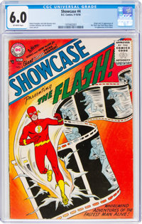 Showcase #4 The Flash (DC, 1956) CGC FN 6.0 Off-white pages