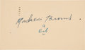 Baseball Collectibles:Others, 1946 Mordecai Brown Signed Government Postcard. ...