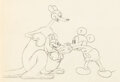 Animation Art:Production Drawing, Mickey's Kangaroo Mickey Mouse Animation Drawing (Walt Disney, 1935). . ...