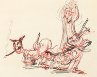 Mother Goose Goes Hollywood Marx Brothers Layout Drawing (Walt Disney, 1938)