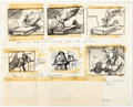 Animation Art:Production Drawing, Ben and Me Storyboard (Walt Disney, 1953)....