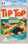 Golden Age (1938-1955):Miscellaneous, Tip Top Comics #42 Rockford Pedigree (United Feature Syndicate, 1939) CGC FN+ 6.5 Cream to off-white pages....