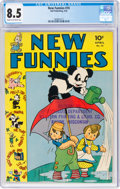 Golden Age (1938-1955):Cartoon Character, New Funnies #74 (Dell, 1943) CGC VF+ 8.5 Cream to off-white pages....