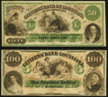 Obsoletes By State:Louisiana, New Orleans, LA- Citizens' Bank of Louisiana $100 18__ Remainder Crisp Uncirculated;. Shreveport, LA- Citizens' Bank o... (Total: 2 notes)