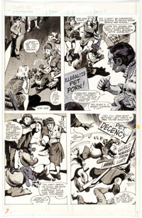 Gene Colan and Klaus Janson Howard the Duck #2 Story Page 7 Original Art (Marvel Comics, 1979)