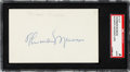 Autographs:Index Cards, 1977 Thurman Munson Signed Index Card, SGC Authentic....