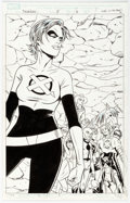 Original Comic Art:Splash Pages, Nick Dragotta and Michael Allred X-Statix Presents: Dead Girl #5 Splash Page #2 Original Art (Marvel Comics, 2006)...