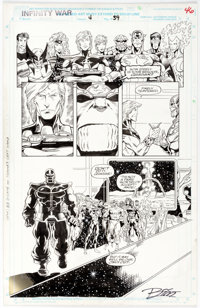 Ron Lim and Al Milgrom Infinity War #4 Page 39 Original Art(Marvel Comics, 1992)