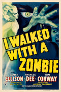 "Movie Posters:Horror, I Walked with a Zombie (RKO, 1943). Very Fine on Linen. One Sheet (27"" X 41"").. ..."