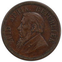 South Africa: Republic Penny 1893 VF35 PCGS