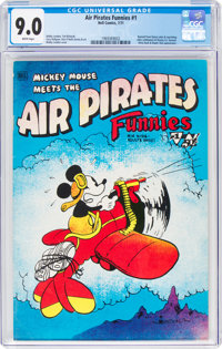 Air Pirates Funnies #1 (Hell Comics Group, 1971) CGC VF/NM 9.0 White pages