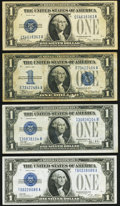Small Size:Silver Certificates, $1 Silver Certificates Four Examples Very Fine.. ... (Total: 4 notes)