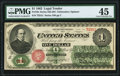Fr. 16c $1 1862 Legal Tender PMG Choice Extremely Fine 45