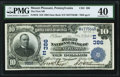 National Bank Notes:Pennsylvania, Mount Pleasant, PA - $10 1902 Date Back Fr. 616 The First National Bank Ch. # (E)386 PMG Extremely Fine 40.. ...
