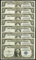 Small Size:Silver Certificates, Fr. 1608 $1 1935A Silver Certificates. Eight Examples. Choice Crisp Uncirculated or Better.. ... (Total: 8 notes)