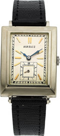 Timepieces:Wristwatch, Agassiz, Large 18k White Gold Vintage Wristwatch, circa 1930's . ...