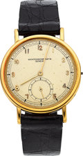 Timepieces:Wristwatch, Vacheron Constantin, 18k Yellow Gold Vintage Wristwatch, circa 1950. ...