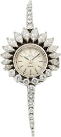 Timepieces:Wristwatch, Patek Philippe, Ref. 3289/3 Lady's Platinum & Diamond Wristwatch, circa 1960's. ...