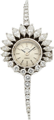 Patek Philippe, Ref. 3289/3 Lady's Platinum & Diamond Wristwatch, circa 1960's