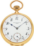 Timepieces:Pocket (pre 1900) , Patek Philippe & Co., Fine 18k Gold Pocket Watch, circa 1895. ...