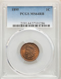 Indian Cents: , 1895 1C MS64 Red and Brown PCGS. PCGS Population: (316/62). NGC Census: (206/95). CDN: $140 Whsle. Bid for problem-free NGC...