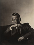 Photographs:Platinum-palladium, Horst P. Horst (American/German, 1906-1999). Noël Coward, Paris, 1936. Platinum-palladium print, 1987 by Sal Lopes. 18 x...