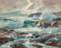 Fine Art - Work on Paper, John Whorf (American, 1903-1959). Crashing Surf. Watercolor on paper. 20 x 25-1/2 inches (50.8 x 64.8 cm) (sheet). Signe...