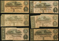 Confederate Notes:1864 Issues, T69 $5 1864 Six Examples Very Good or Better.. ... (Total: 6 notes)