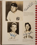 Autographs:Others, 1945 Babe Ruth, Ty Cobb, Mel Ott, & Carl Hubbell Multi-Sig...