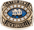 Football Collectibles:Others, 2003 Notre Dame Fighting Irish Gator Bowl Ring....