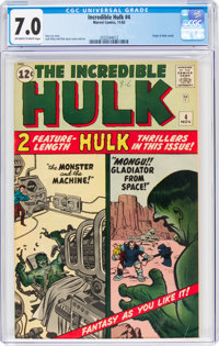 The Incredible Hulk #4 (Marvel, 1962) CGC FN/VF 7.0 Off-white to white pages