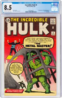 The Incredible Hulk #6 (Marvel, 1963) CGC VF+ 8.5 Off-white to white pages