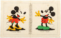 Memorabilia:Disney, Disneyland and Mickey and Minnie Mouse Cloth Wall Hangings Group of 2 (Walt Disney, early 1930s-1966).... (Total: 2 Items)