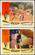 """Movie Posters:Science Fiction, Invasion of the Body Snatchers (Allied Artists, 1956). Fine/Very Fine. Lobby Cards (2) (11"""" X 14""""). Science Fiction.. ... (Total: 2 Items)"""