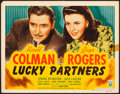 "Movie Posters:Comedy, Lucky Partners (RKO, 1940). Very Fine-. Title Lobby Card (11"" X 14""). Comedy.. ..."