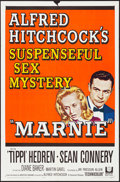 """Movie Posters:Hitchcock, Marnie (Universal, 1964). Folded, Very Fine-. One Sheet (27"""" X 41"""") & Lobby Card (11"""" X 14""""). Hitchcock.. ... (Total: 2 Items)"""