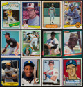 Baseball Cards:Lots, 1980-1992 Topps, Fleer & Donruss Rookie Collection (50) Plus 2001 Spahn Autograph...