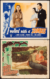 """Devil Bat's Daughter & Other Lot (PRC, 1946). Overall: Fine/Very Fine. Lobby Cards (2) (11"""" X 14""""). Horror..."""