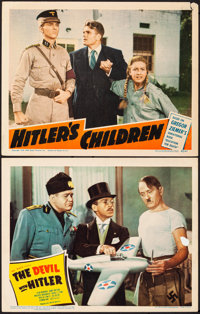 """The Devil with Hitler & Other Lot (United Artists, 1942). Fine/Very Fine. Lobby Cards (2) (11"""" X 14""""). Com..."""