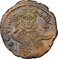Ancients:Byzantine, Ancients: Theophilus (AD 829-842). AE follis (27mm, 6h). NGC Choice XF....