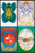 Movie Posters:Rock and Roll, Big Brother and the Holding Company at the Fillmore & Other Lot (Bill Graham, 1968). Very Fine. Promotional Postcards (2) (4... (Total: 2 Items)