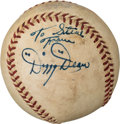 Autographs:Baseballs, 1952-57 Dizzy Dean Single Signed & Inscribed Baseball with Original Carton....