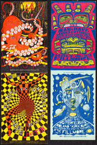 Country Joe and the Fish at the Fillmore & Other Lot (Bill Graham, 1968/1967). Very Fine. Promotional Postcards...