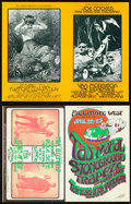 Movie Posters:Rock and Roll, Jethro Tull at the Fillmore West & Other Lot (Bill Graham, 1970/1971). Very Fine. Oversized Concert Promotional Postcards (2... (Total: 2 Items)