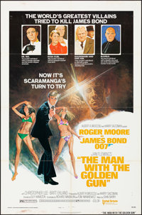 """The Man with the Golden Gun (United Artists, 1974). Folded, Fine/Very Fine. One Sheet (27"""" X 41"""") Style B. Rob..."""