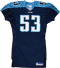 Football Collectibles:Uniforms, 2006 Keith Bullock Game Worn Tennessee Titans Jersey....