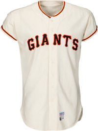 1970 Charlie Fox Game Worn San Francisco Giants Jersey
