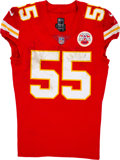 Football Collectibles:Uniforms, 2018 Dee Ford Game Worn & Unwashed Kansas City Chiefs Jersey - Photo Matched AFC Divisional Playoffs 1-12 vs. Colts....