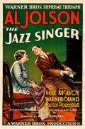 "Movie Posters:Musical, The Jazz Singer (Warner Bros., 1927). Fine/Very Fine on Linen. One Sheet (27"" X 41"") Style A.. ..."